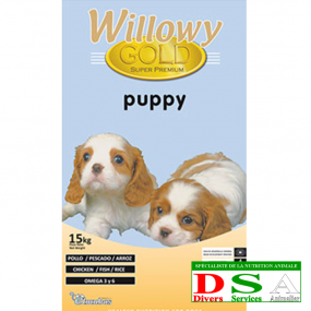 Willowy Gold Puppy - Croquettes chiots - sac 15kg, DSA45