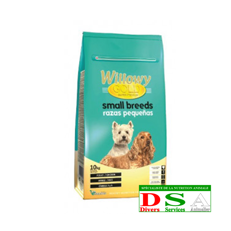 Willowy Gold Small Breeds - Croquettes petites races - sac 15kg, DSA45