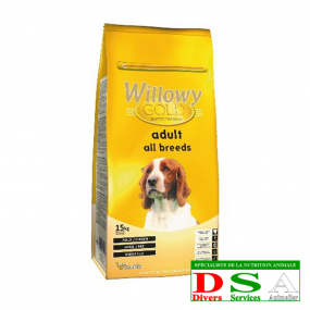 Willowy Gold Adult All Breeds - Croquettes adultes - sac 15kg, DSA45