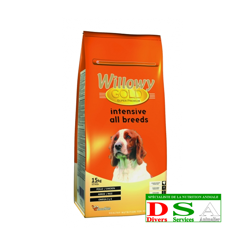 Willowy Gold Intensive All Breeds - Croquettes Intensives - sac 15kg, DSA45