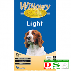 Willowy Gold Light - Croquettes Allégées - sac 15kg, DSA45